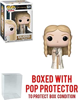 Funko Galadriel: Lord of The Rings x POP! Movies Vinyl Figure & 1 POP! Compatible PET Plastic Graphical Protector Bundle [#631 / 33253 - B]