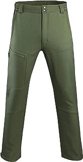 Men's Warm Fleece Lined Pants Softshell Outdoor Hiking Ski Water Resistant Windproof Trousers
