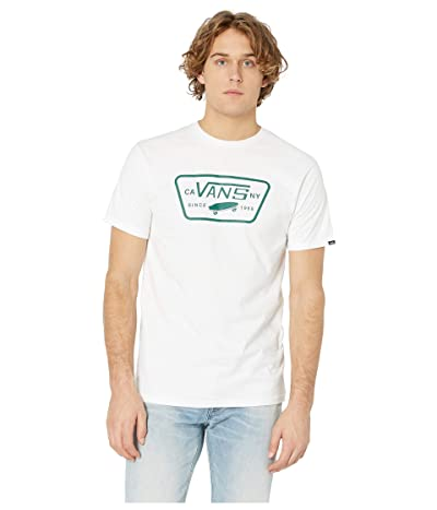 Vans Full Patch Tee (White/Evergreen) Men
