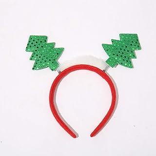 RL506 Christmas Headband, Feather Spring Tree Headband, Christmas Day Headband Headband, Yiwu Hair Accessories Wholesale