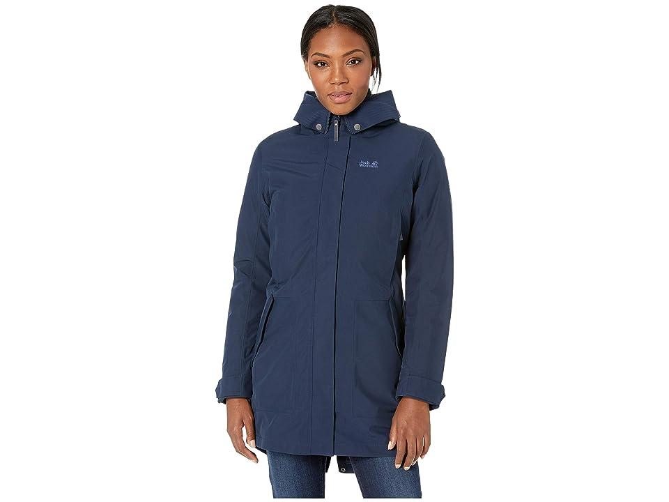 Jack Wolfskin Monterey Bay Coat (Midnight Blue) Women