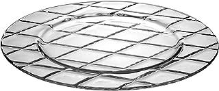 Barski - European Glass - Salad - Dessert - Plate - Artistically Designed - 8.5