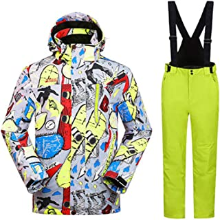 Men Ski Suit Snowboard Clothing Trouser Windproof Waterproof Outdoor Sport Wear Male Super Warm Thicken Set