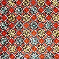 アフリカンプリント布 生地 African Textile 110cm x 180cm (2yards) カット売り barg-d91
