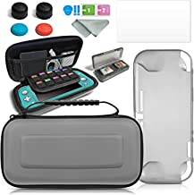 CHENLAN Accessories Bundle - Case & Screen Protector for Nintendo Switch Lite Console, Games Holder, Comfort Grip Case, Thumb-Grip Pack and More Gift Pack