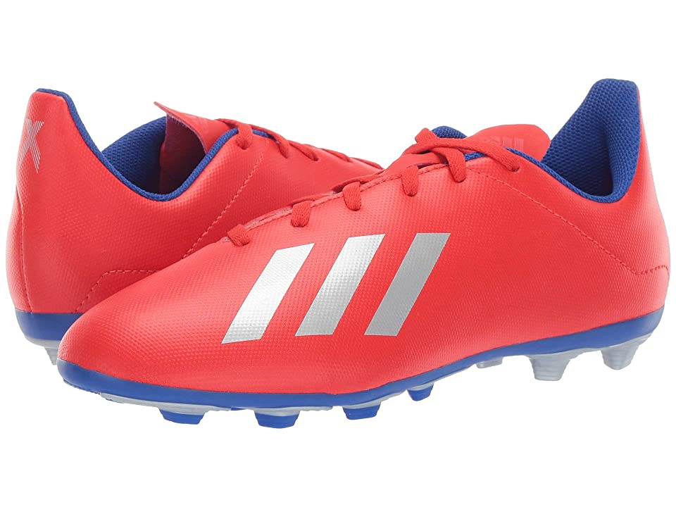 adidas Kids X 18.4 FxG Soccer (Little Kid/Big Kid) (Active Red/Silver/Blue) Kids Shoes