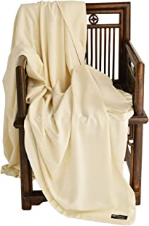 Cashmere Boutique: 100% Pure Cashmere Queen Blanket in 4 Ply (Color: Mocha Brown, Size: 90