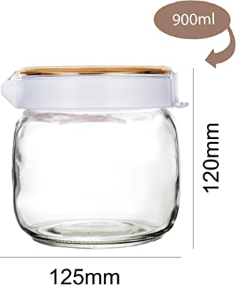 Cello Lilac Glass Storage Jar, 900ml, Clear