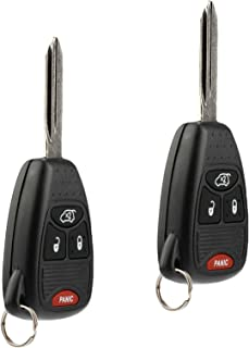 Car Key Fob Keyless Entry Remote fits Chrysler 200 300 300c PT Cruiser Sebring/Dodge Avenger Charger/Jeep Commander Grand Cherokee Liberty (OHT692427AA), Set of 2