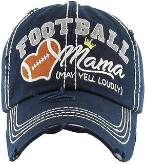 Football Mama Women's Vintage Cotton Baseball Hat