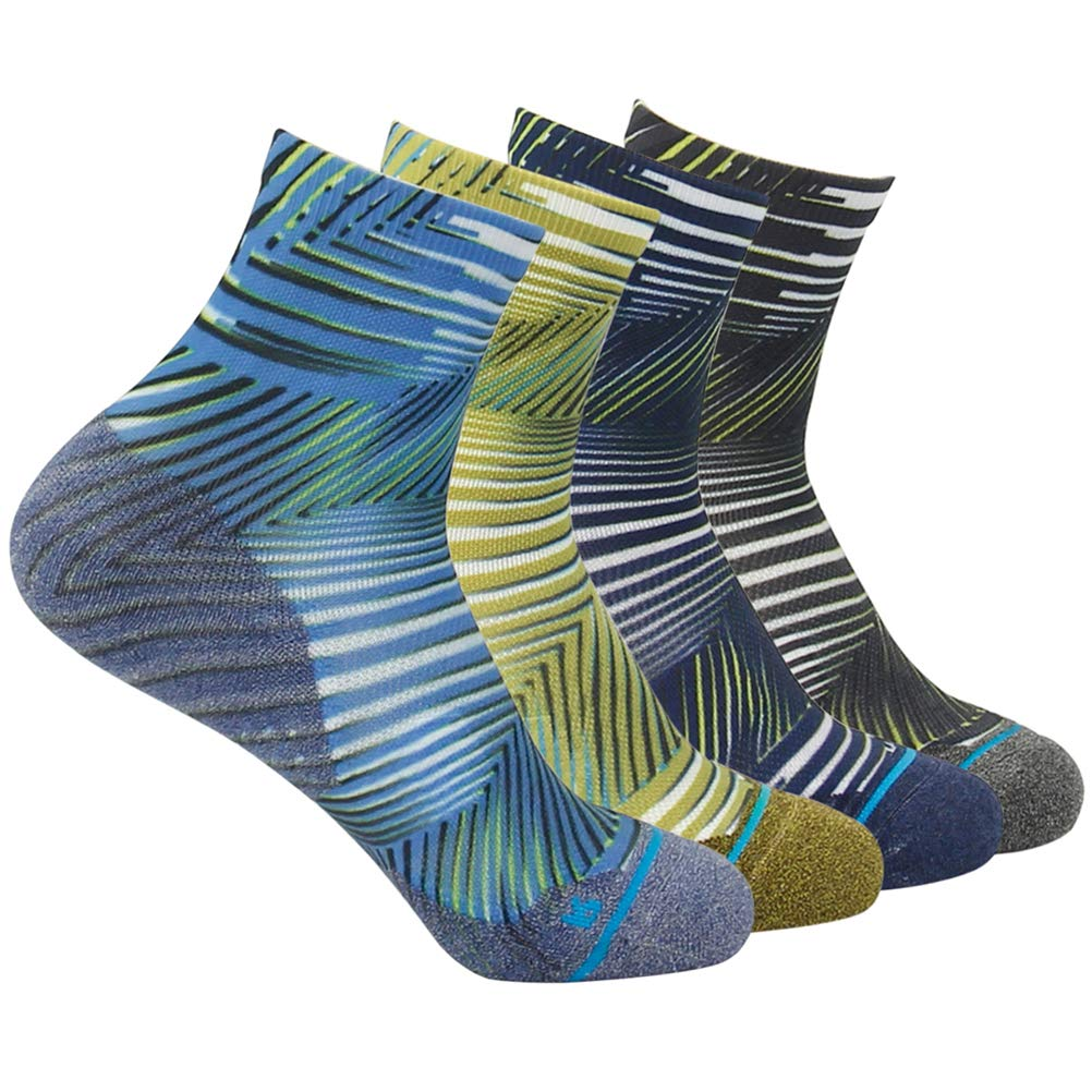 Running Socks Ankle Support HUSO Men Women High Performance Arch Compression Cushioned Quarter Socks 1,2,3,4,6 Pairs HUSO Men/'s Women/'s Athletic Ultra Performance Ankle Compression Wicking Bike Socks Low Cut 6 Pack 6SSHMA002