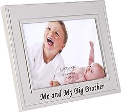إطارات لورانس بيج براذرز مطلية بالفضة إطار صورة 6 × 4 - تصميم مي وأخي الكبير