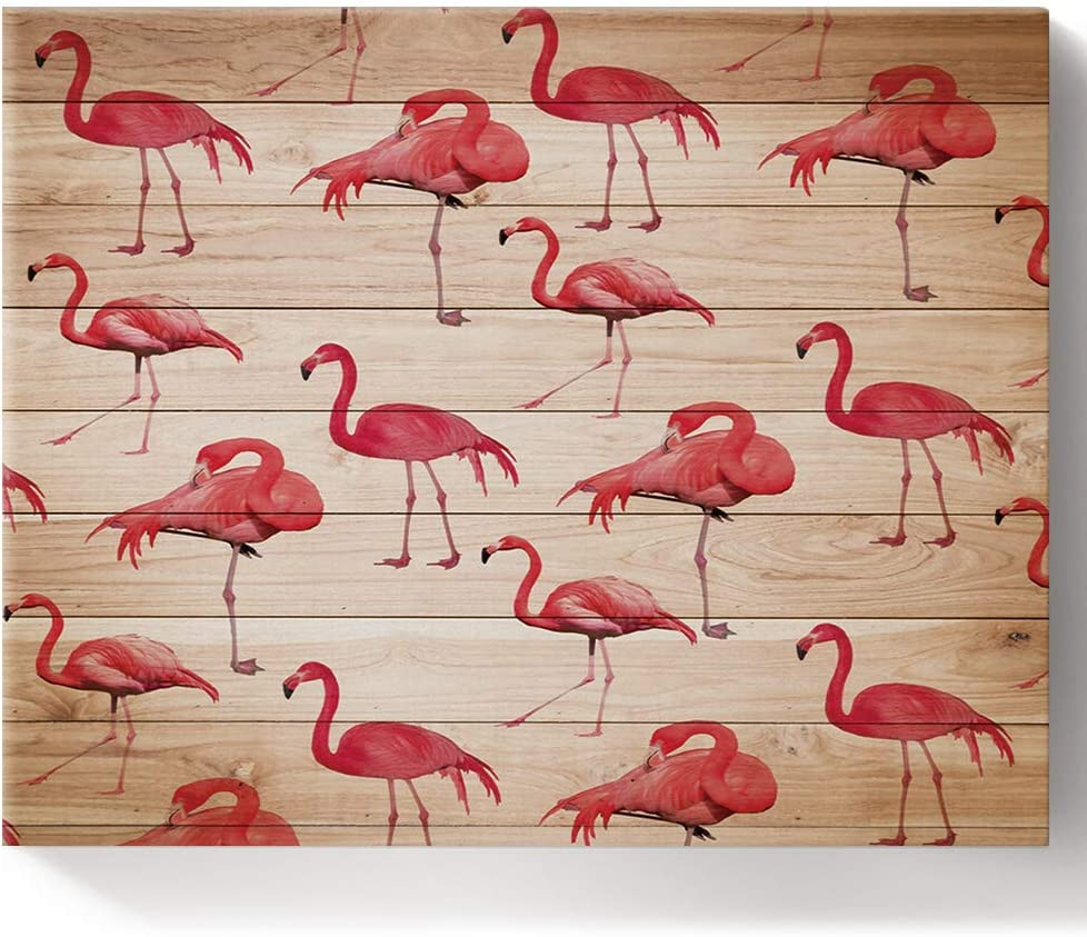Painting by Number Kit DIY Oil Paint-Cute Online limited product Framed Don't miss the campaign Canvas Pink Fla
