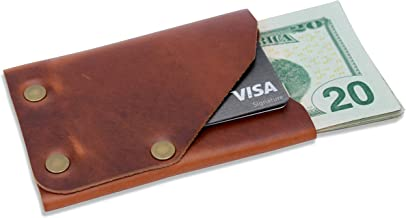 product image for Leather Front Pocket Minimalist Wallet - Slim, Compact, Thin, RFID Credit Card Wallet