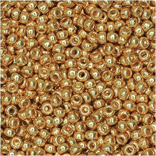 Miyuki Round Seed Bead Size 11/0 8.5g-tube Galvanized Yellow Gold