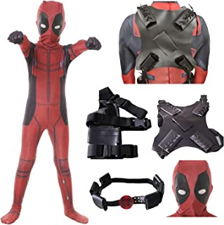 Mens Boys Lycra Spandex Superhero Cosplay Costumes with Accessories Halloween Cosplay Zentai Suit for Adults/Kids
