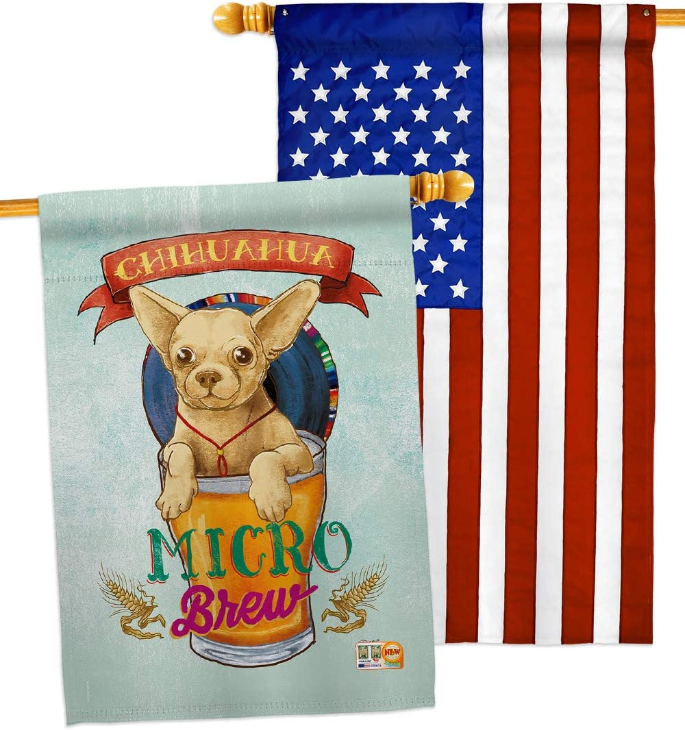 Dog Chihuahua Micro Brew House Puppy Flags Pack Animals 5 popular Spoiled Louisville-Jefferson County Mall