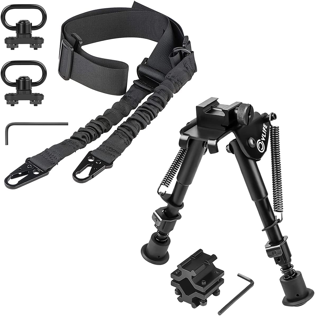 CVLIFE 春の新作シューズ満載 Rifle Sling 2 Point with QD Mo 価格 Pack Swivels