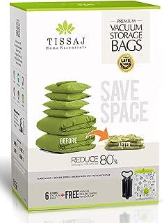 Tissaj Vacuum Storage Space Saver Bags (Jumbo - 6 Pack)