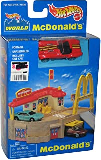 Hot Wheels McDonald's Portable Playset w/ turquoise Corvette SP3 1998