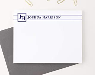 Personalized Monogram Stationery, Professional Note cards, Stationery for Men, Stationery for Women, Monogram Note Cards, Your Choice of Colors and Quantity