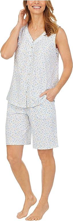 Soft Jersey Sleeveless Bermuda Pajama Set