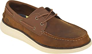 Skechers Mens 65894 Status 2.0- Former Moc Toe Leather Lace Up