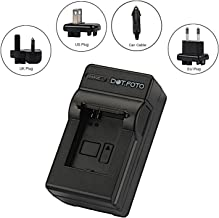 Dot Foto Sony NP-FH30  NP-FH40  NP-FH50  NP-FH60  NP-FH70  NP-FH100 Travel Battery Charger 100-240v Mains 12v in-car adapter  See Description for Compatibility