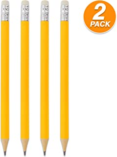 Emraw Pre Sharpened Round Primary Size No 2 Jumbo Pencils for Preschoolers, Elementary Kids - Pack of 8 Premium Fat Pencils
