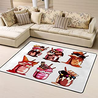 Doormats Area Rug Rugs Different Giant Milkshakes Monstershake in Cocktail Jar Cartoonfloor Mat for Home Decor 60