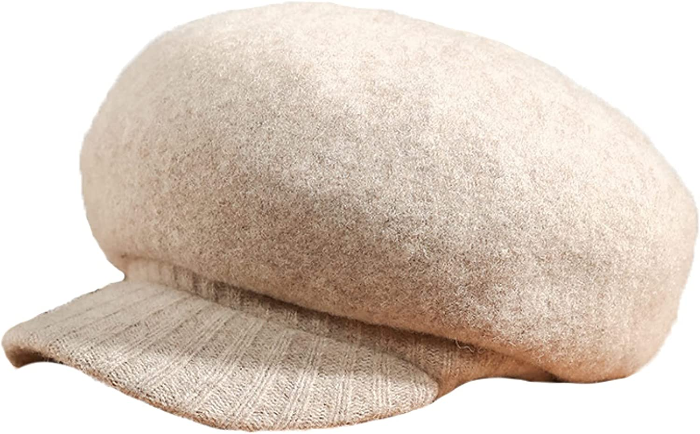 AOBRICON Wool Autumn Winter Hat Women Felt Beret Elasticity Knitted Wool Caps Apparel Accessories Fedora Women's Hat