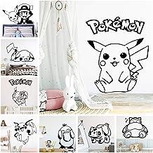 Pokemon Sticker Mural de Bande Dessinée Pikachu Décor Autocollant Pour Garçons Filles Chambre Chambre Sticker Mural Autoco...
