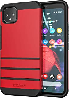 Pixel 4 XL Case, Crave Strong Guard Heavy-Duty Protection Series Case for Google Pixel 4 XL - Red