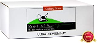 Rabbit Hole Hay Ultra Premium, Hand Packed Soft Orchard Grass for Your Small Pet Rabbit, Chinchilla, or Guinea Pig