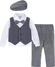 mintgreen Beb/é Caballero Tirantes Romper 100/% Algod/ón Body Estampado 3-24 Meses con Pajarita y Sombrero