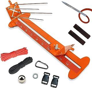 Orange Pro Paracord Jig avec débutant Bracelet KIT-construit en Singe Jig