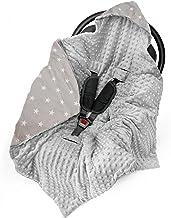 Saco para Capazo invierno - Saco Carro bebé, sacos universal para capazo Cochecito, arullo bebe (invierno, color gris CLARO, 90cm x 90cm)