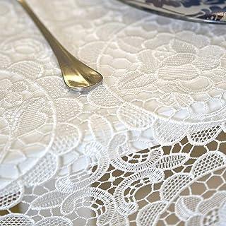 YEARLY Dentelle Creux Nappe De Table Broderie Multi-Taille Table Décoration Carré Oblong Cuisine Manger Nappes Tissu Linge...