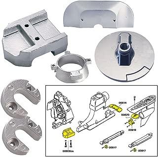 Tecnoseal Anode Kit w/Hardware - Mercury Alpha 1 Gen 2 - Aluminum (52027) (Renewed)