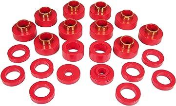Prothane 1-103 Red Body Mount Bushing Kit for CJ5, CJ7, CJ8, YJ and TJ - 22 Piece