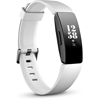 Fitbit Inspire Hr Heart Rate and Fitness Tracker With S and L Bands, White, One Size, 1 Count