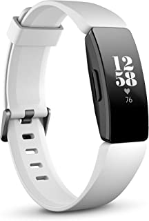 Fitbit FB413BKWT Inspire HR Health & Fitness Tracker with Auto-Exercise Recognition - White