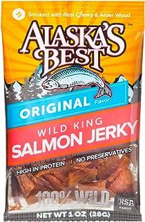 Wild Salmon Jerky 1 oz. Pouch - Original (6 Pouches)