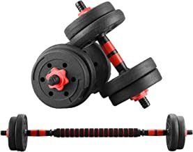 Wesfital Exercise Dumbbells Adjustable Weight 22/33/44/55/66/88LBS Free Weights Strength Training Barbell for Home Gym