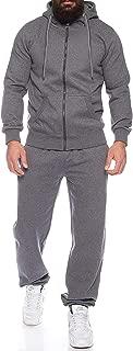 COOFANDY Men Long Sleeve Jogging Suit Zipper Hoodie Tracksuit Sport Set Casual Comfy Sweatsuits with Pockets