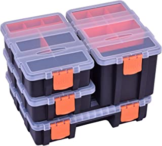 Tool Organizer Tackle Box Storage For Small Parts/Screw/Hardware,Plastic