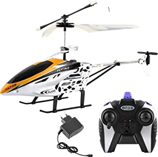 AA Flying Electronic Radio RC Remote Control Toy Charging Helicopter Toys with 3D Light for Boys Kids with Unbreakable Bla...