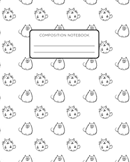 Composition Notebook: Cute, Smiling Cats. School Exercise Journal with Wide Ruled Paper for Middle, Elementary, High Schoo...