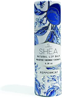 Shea Brand   Natural Lip Balm   Regenerative Lip Therapy   For Dry & Cracked Lips   100% Organic Ingredients   Environmentally Friendly Container (Peppermint)