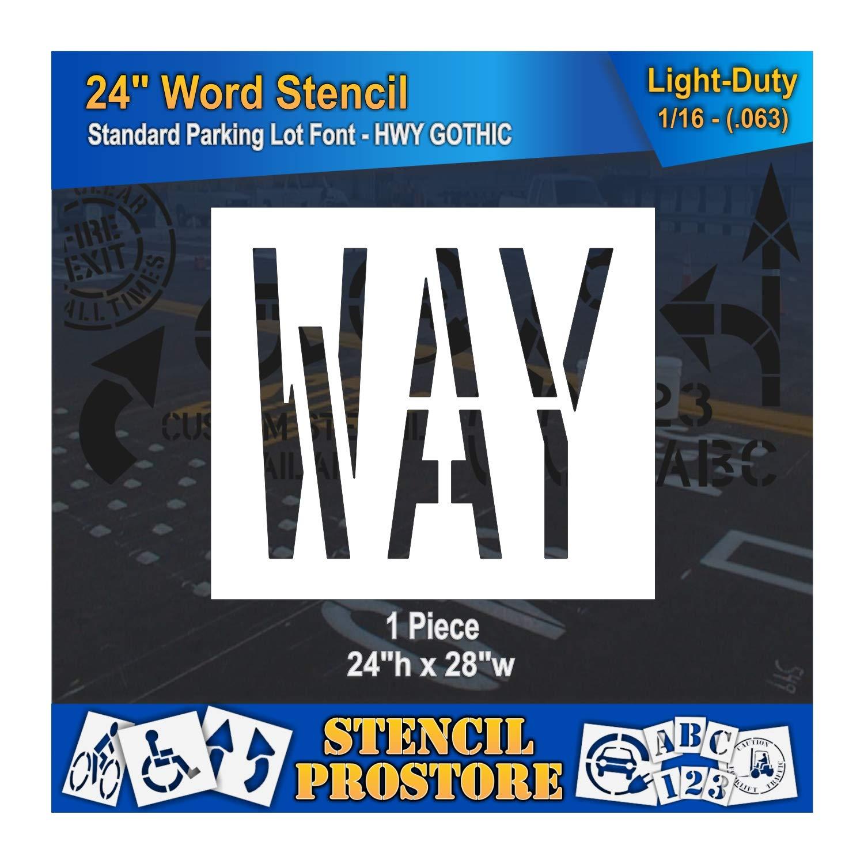 Pavement Marking Stencils - 24 inch 1 24